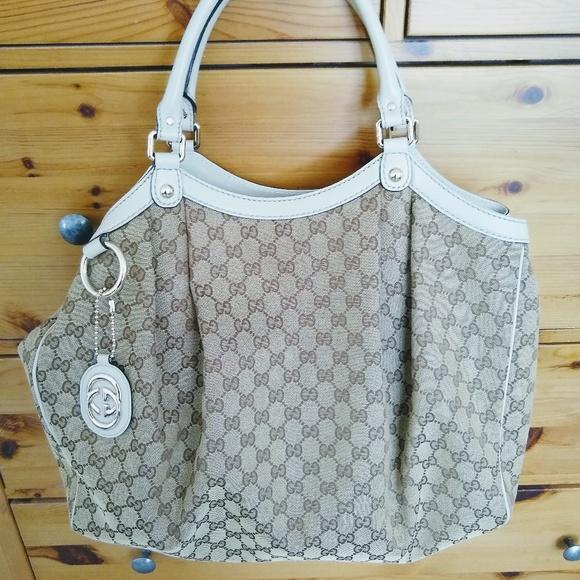 Gucci Handbags - 100% Authentic Gucci Sukey tote